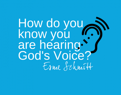 How do you know you are hearing God's voice?