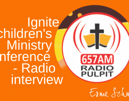 Ignite Children's Ministry Conference - Radio interview